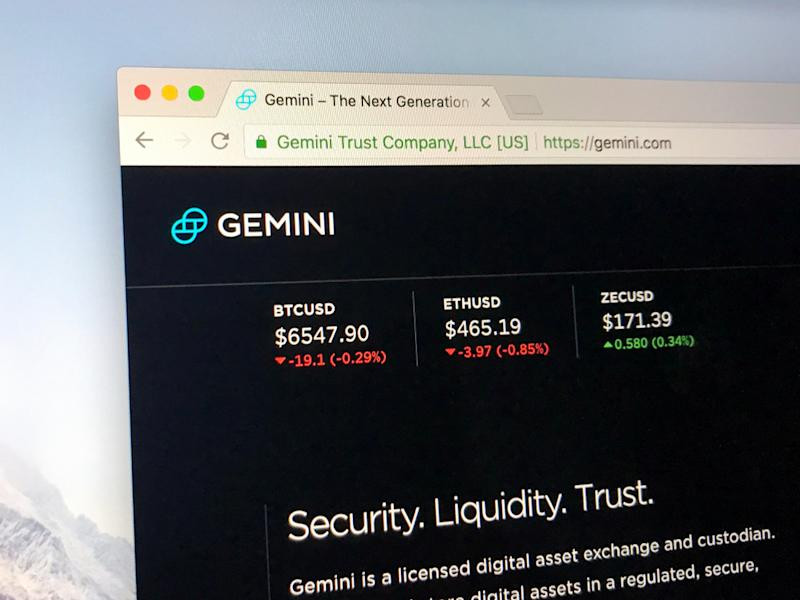 Gemini cryptocurrency exchange