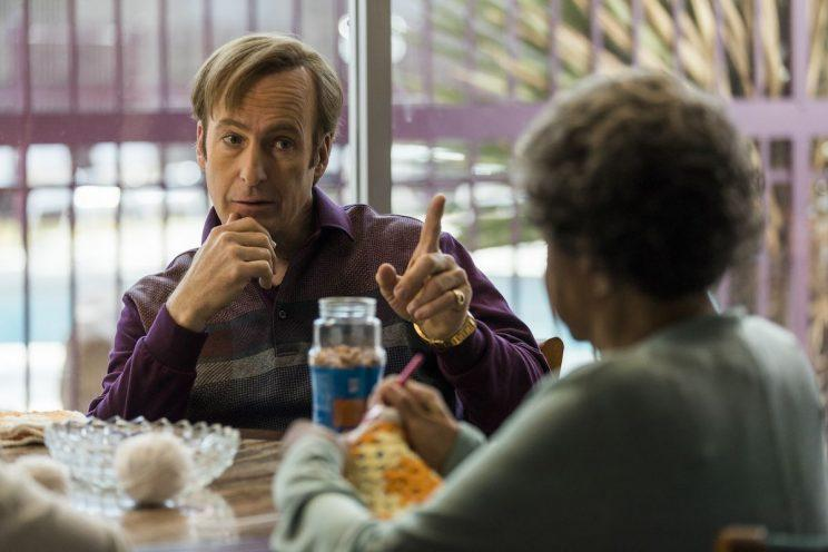Jimmy McGill conferring with a client