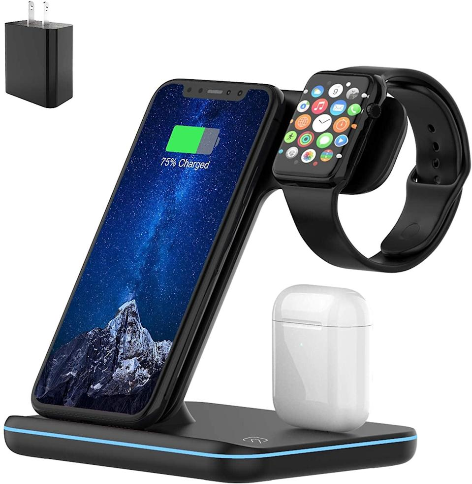 <p>Always have your devices charged up with the <span>Muleug Wireless Charger</span> ($40). Keep it on your bedside table, on your work-from-home setup, or in your entryway. </p>