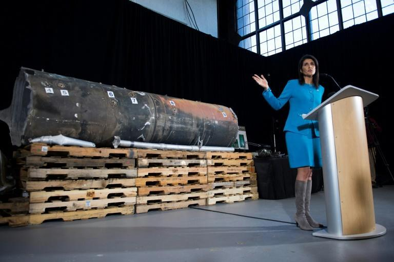 US Ambassador to the United Nations Nikki Haley unveiled previously classified information intending to prove Iran violated UNSCR 2231 by providing the Houthi rebels in Yemen with arms in December 2017