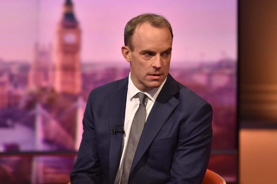 <p>Foreign Secretary Dominic Raab said progress is being made as talks deadline looms</p> (PA/BBC)