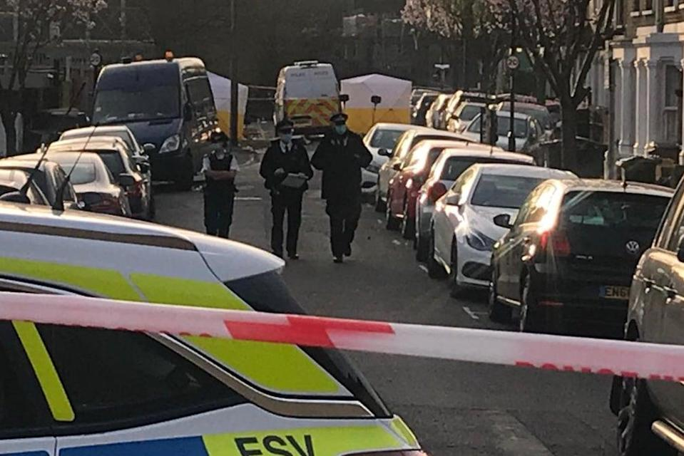 The scene in alpha Road after the death of Reece Young.John Dunne