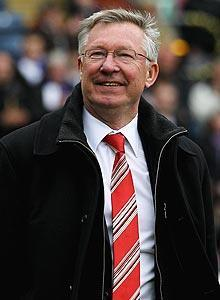 Alex Ferguson (above) escaped with a warning after his complimentary remarks about referee Howard Webb