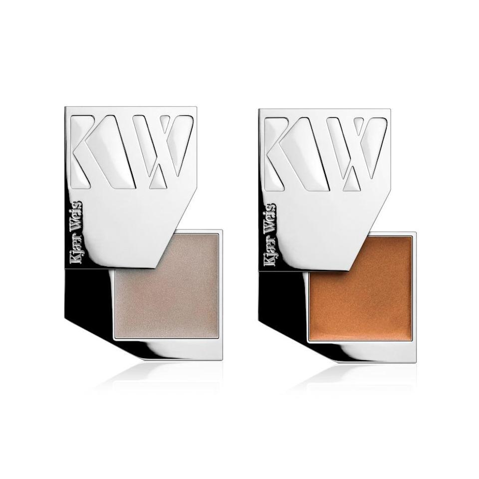 """<p>This highlighter and bronzer duo is perfect for adding luminosity to skin anytime of the year. The best part? Each compact is refillable. <a href=""""http://kjaerweis.com/shop/glow-kit/"""" rel=""""nofollow noopener"""" target=""""_blank"""" data-ylk=""""slk:Kjaer Weis Glow Kit"""" class=""""link rapid-noclick-resp"""">Kjaer Weis Glow Kit</a> ($105)</p>"""