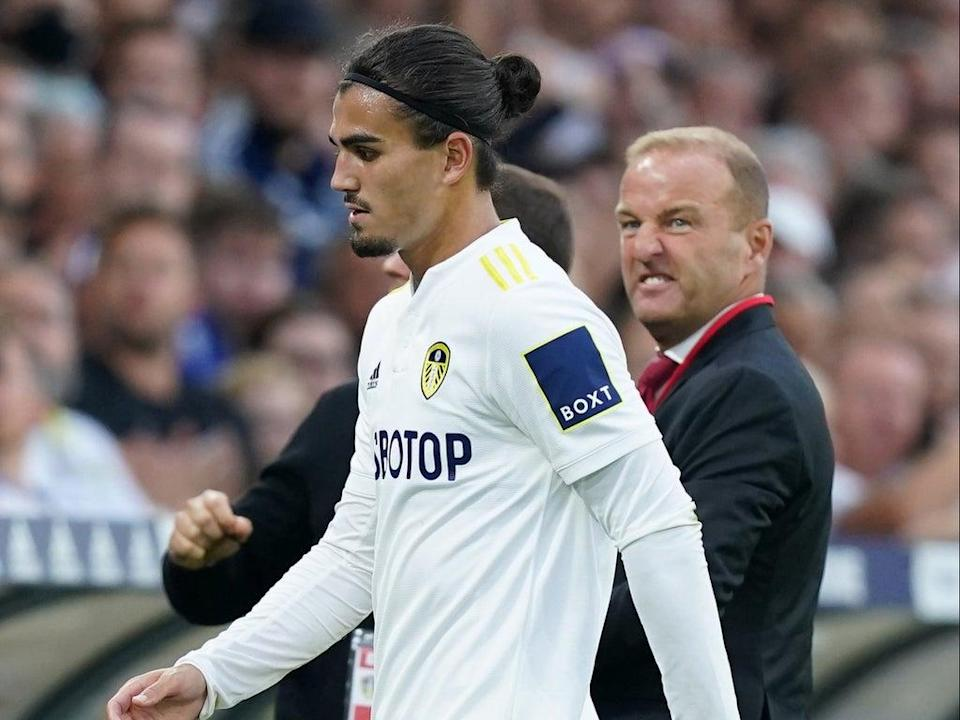 Pascal Struijk was sent off in the second half of Leeds' loss to Liverpool  (PA Wire)