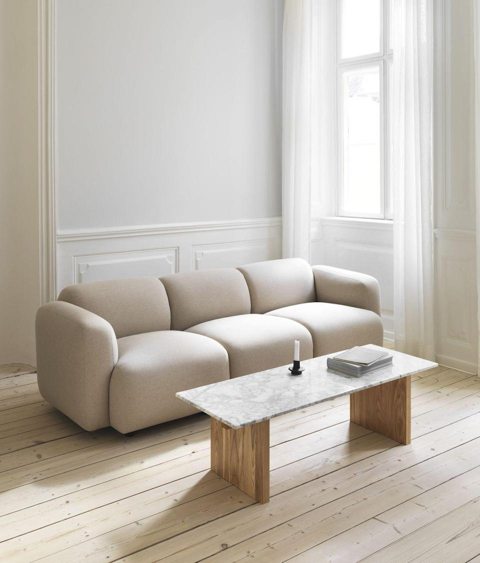 """<p>Normann Copenhagen's 'Swell' collection softens minimalism's precise angles and defined lines, opting for a softer, more squishy take on the aesthetic. Plump and playful, it's a failsafe way to set a welcoming tone in your living space. £3,745, <a href=""""https://www.normann-copenhagen.com/en"""" rel=""""nofollow noopener"""" target=""""_blank"""" data-ylk=""""slk:normann-copenhagen.com"""" class=""""link rapid-noclick-resp"""">normann-copenhagen.com</a></p>"""