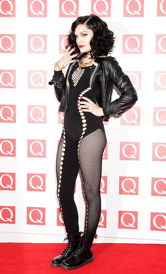 Jessie J donned one of her daring catsuits for the event. She picked up the award for 'Best Video.' We were loving her makup, too.
