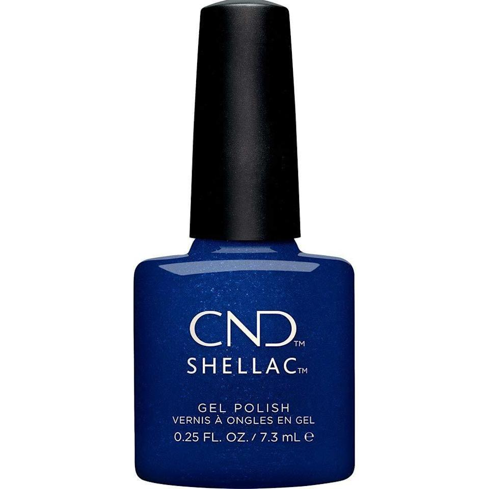 "<p>""I only discovered <span>CND Shellac Sassy Sapphire</span> ($15) last year when the Crystal Alchemy Collection launched but I can tell you it will be a winter favorite for years to come. I typically don't like shimmer polish shades but this one is different. The deep midnight blue hue is only slightly shimmery in normal daylight but as soon as the sun rays hit it, it turns into the most beautiful glistening blue stone. I particularly love this in its Shellac formula as the shine is next level."" - Tori Crowther, associate editor, UK</p>"