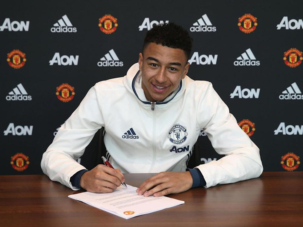 Lingard has put pen to paper on a new contract (Getty)