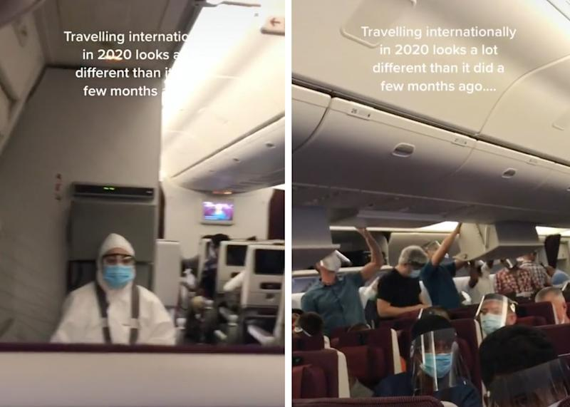 TikTok users show how different flying is amid the coronavirus pandemic