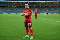 Xherdan Shaqiri's brace helped Switzerland to a 3-1 win over Turkey but they must wait to see if they will go through as a best third-placed team