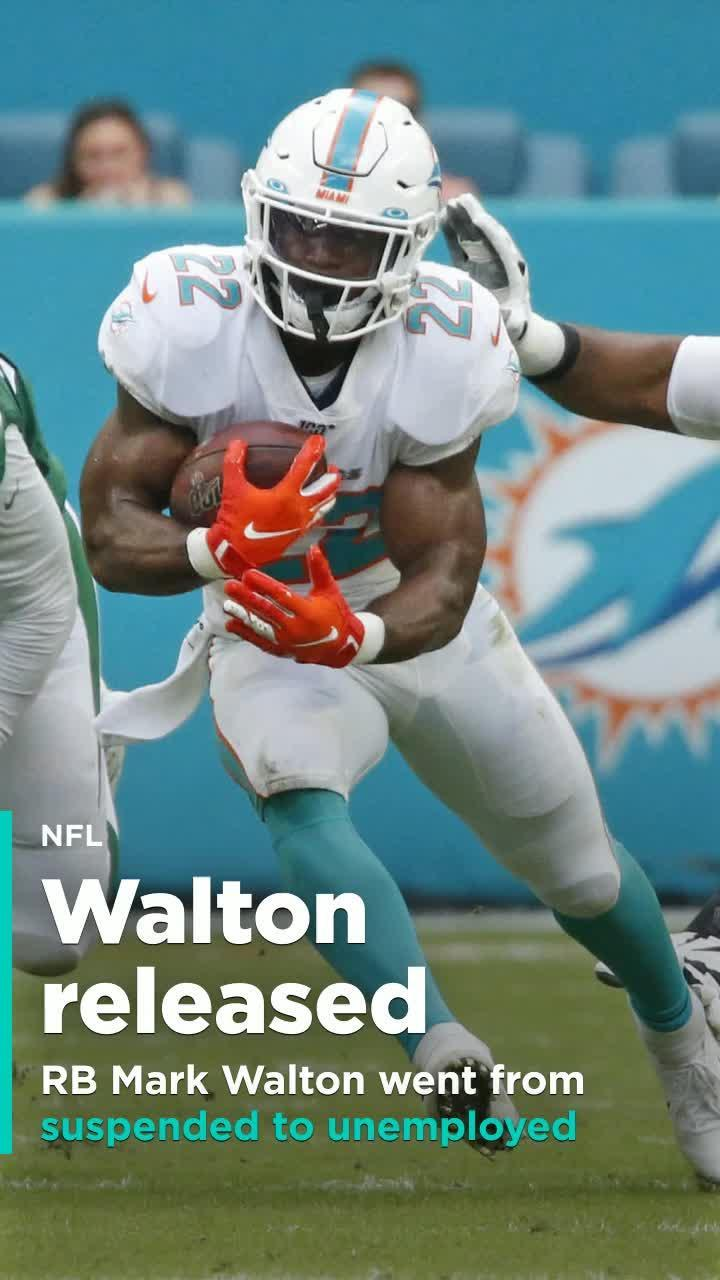 Mark Walton Released By The Dolphins After Allegedly Punching Pregnant Woman