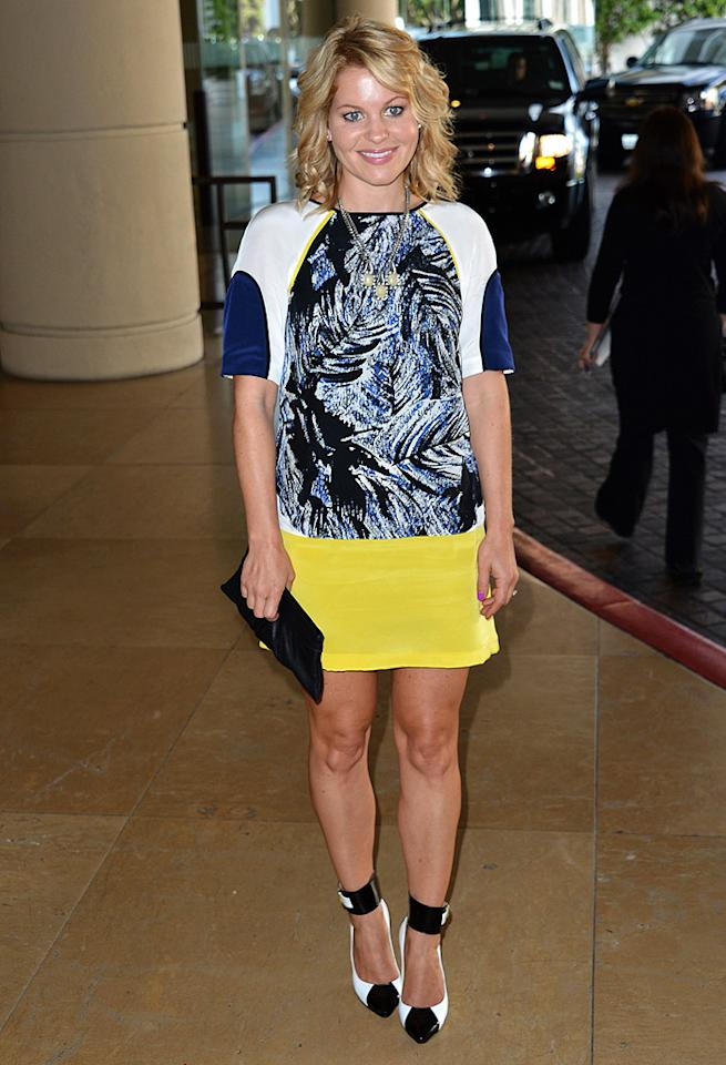 """""""Full House's"""" D.J. Tanner is all grown up ... yet Candace Cameron-Bure's sense of style is all over the map. As Uncle Joey would say, """"Cut it out!"""" with those ankle monitor-like pumps that make you look like you're on house arrest! (8/2/2012)<br><br><a target=""""_blank"""" href=""""http://omg.yahoo.com/news/full-house-star-sues-25k-over-car-accident-014000413.html"""">Jodie Sweetin sues over car accident</a>"""