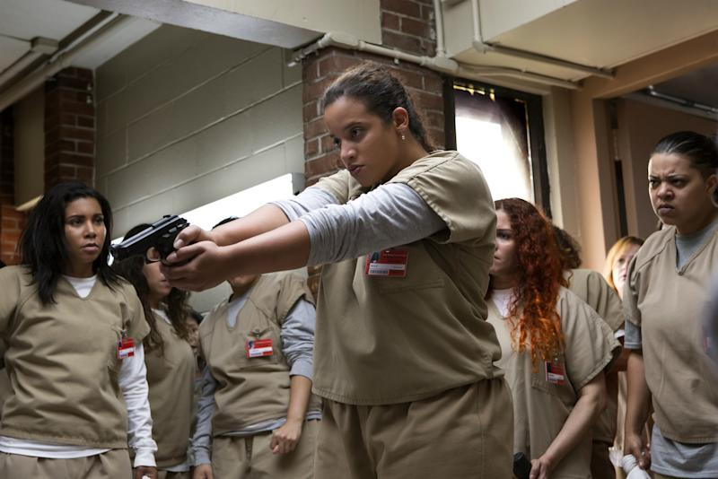 Watch the First Minute of 'Orange is the New Black' Season 5: Does Daya Shoot C.O. Humphrey?