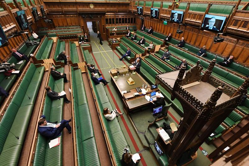 Since April a hybrid system allowed MPs to take part in debates and vote remotely while up to 50 were in the chamber: AP