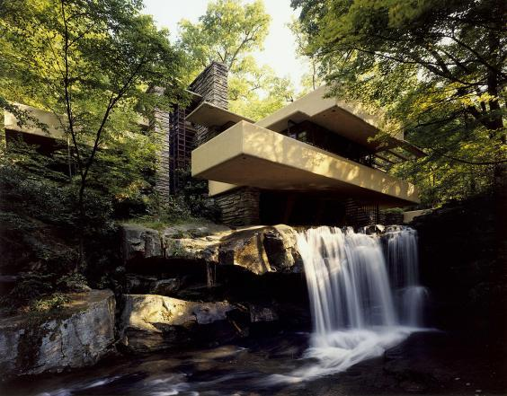 Fallingwater is one of Wright's most famous buildings (Western Pennsylvania Conservancy)