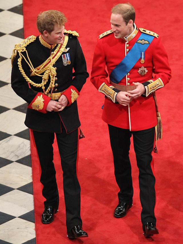 Prince William broke royal protocol by naming Harry his best man. (Photo: Getty Images)