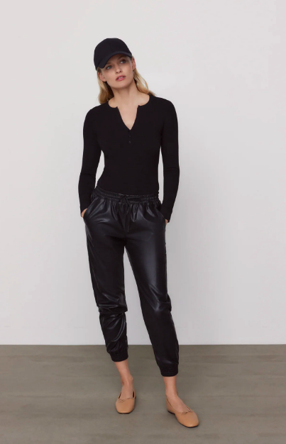 Faux Leather Jogging Pants (Photo via Zara)