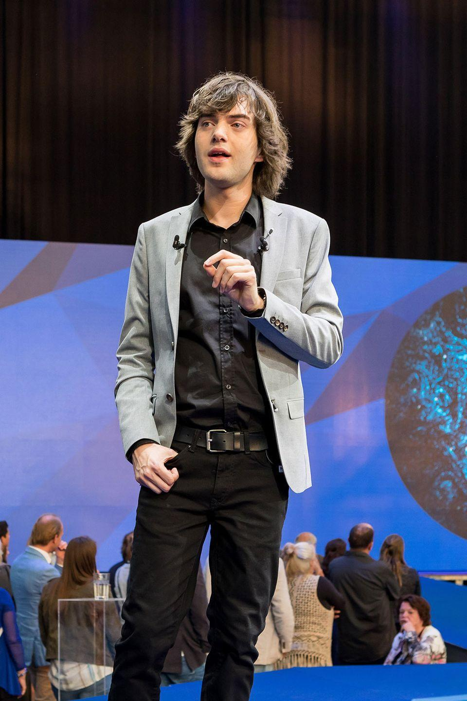 "<p>At 16, during a fishing trip in Greece, Slat discovered massive amounts of plastic in the water. Two years later, the dutch inventor launched his non-profit, <a href=""http://www.boyanslat.com/"" rel=""nofollow noopener"" target=""_blank"" data-ylk=""slk:Ocean Cleanup"" class=""link rapid-noclick-resp"">Ocean Cleanup</a>, to research using circulating currents to address the pollution issue. The group has raised over $31.5 million in donations to help achieve Boyan's goal.</p>"