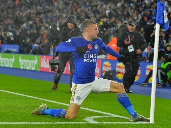 Vardy gave Leicester the lead (Getty)