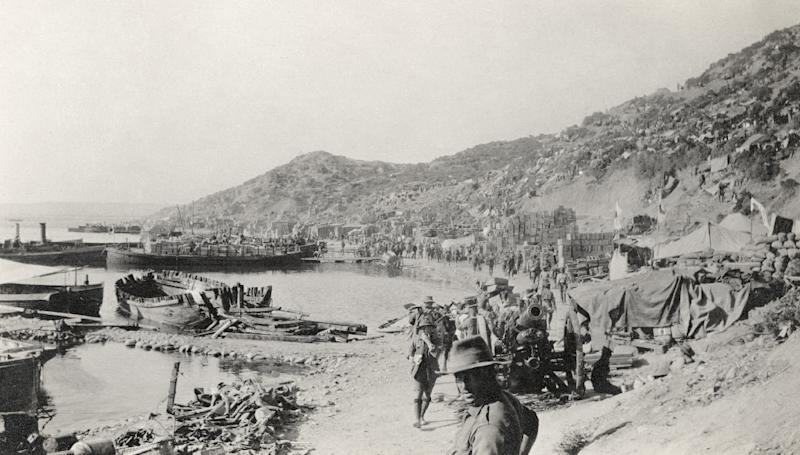 The nine-month battle for Gallipoli saw German-backed Ottoman forces resist Allies -- including Australian, British, French, Irish, Newfoundland, New Zealand and Gurkha troops -- trying to seize the peninsula on the western edge of Turkey (AFP Photo/)