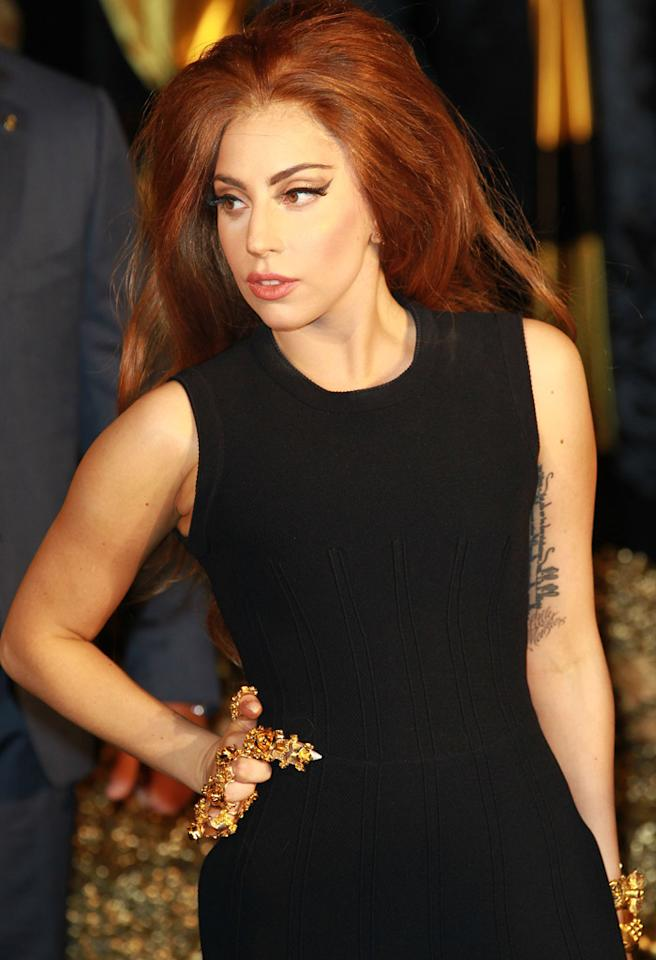 LONDON, UNITED KINGDOM - OCTOBER 07: Lady Gaga attends the launch of Fame by Lady Gaga at Harrods on October 7, 2012 in London, England. (Photo by Fred Duval/FilmMagic)
