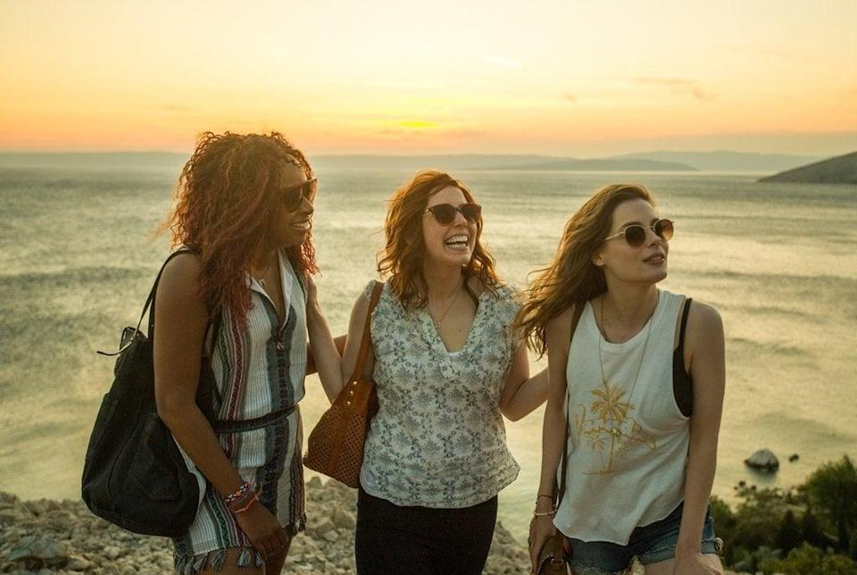 """<p>Gillian Jacobs, Vanessa Bayer, and Phoebe Robinson play three best friends whose trip to Ibiza becomes a game to track down a popular DJ (played by <strong>Game of Thrones</strong> hottie Richard Madden). Sure, it may embrace every gross-out girl comedy cliché there is, but that doesn't mean it isn't still a good time (with a <a href=""""https://www.popsugar.com/entertainment/Ibiza-Movie-Soundtrack-44943390"""" class=""""link rapid-noclick-resp"""" rel=""""nofollow noopener"""" target=""""_blank"""" data-ylk=""""slk:damn good soundtrack"""">damn good soundtrack</a>). </p> <p>Watch<a href=""""http://www.netflix.com/title/80195049"""" class=""""link rapid-noclick-resp"""" rel=""""nofollow noopener"""" target=""""_blank"""" data-ylk=""""slk:Ibiza: Love Drunk""""><strong> Ibiza: Love Drunk</strong></a> on Netflix now.</p>"""
