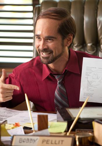 <p>Colin Farrell as Bobby Pellitt, a cocaine-addicted, amoral chemical company manager.</p>