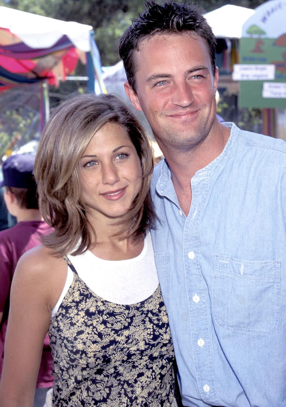 Jennifer Aniston and Matthew Perry at the Private Home in Los Angeles, California (Photo by Kevin Mazur/WireImage)