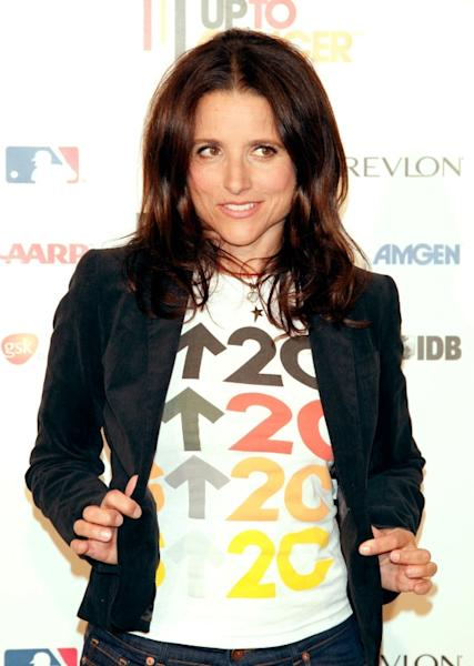 Julia Louis-Dreyfus -- seen here at a Stand Up For Cancer event in Hollywood in 2008 -- was diagnosed with breast cancer in 2017 and has undergone successful treatment