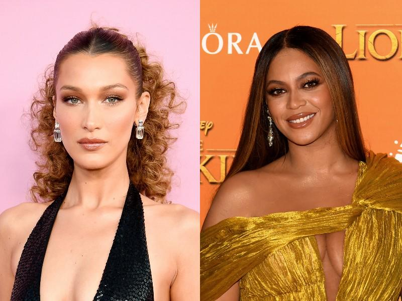 Bella Hadid, left, and Beyonce, right. (Photos: Getty Images)