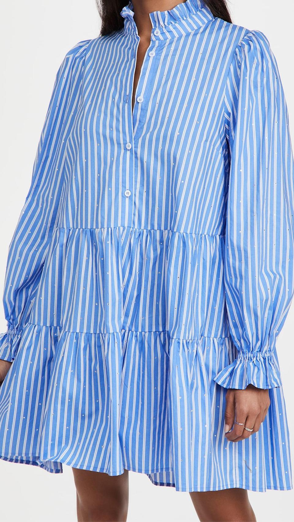 <p>The collar and sleeves on this <span>Essentiel Antwerp Zinga Cotton Dress</span> ($355) are so chic.</p>