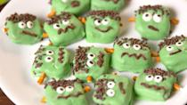 """<p>Kids will love making them, everyone will love eating them.</p><p>Get the recipe from <a href=""""https://www.delish.com/cooking/recipe-ideas/recipes/a55254/frankestein-pretzels-recipe/"""" rel=""""nofollow noopener"""" target=""""_blank"""" data-ylk=""""slk:Delish"""" class=""""link rapid-noclick-resp"""">Delish</a>.</p>"""