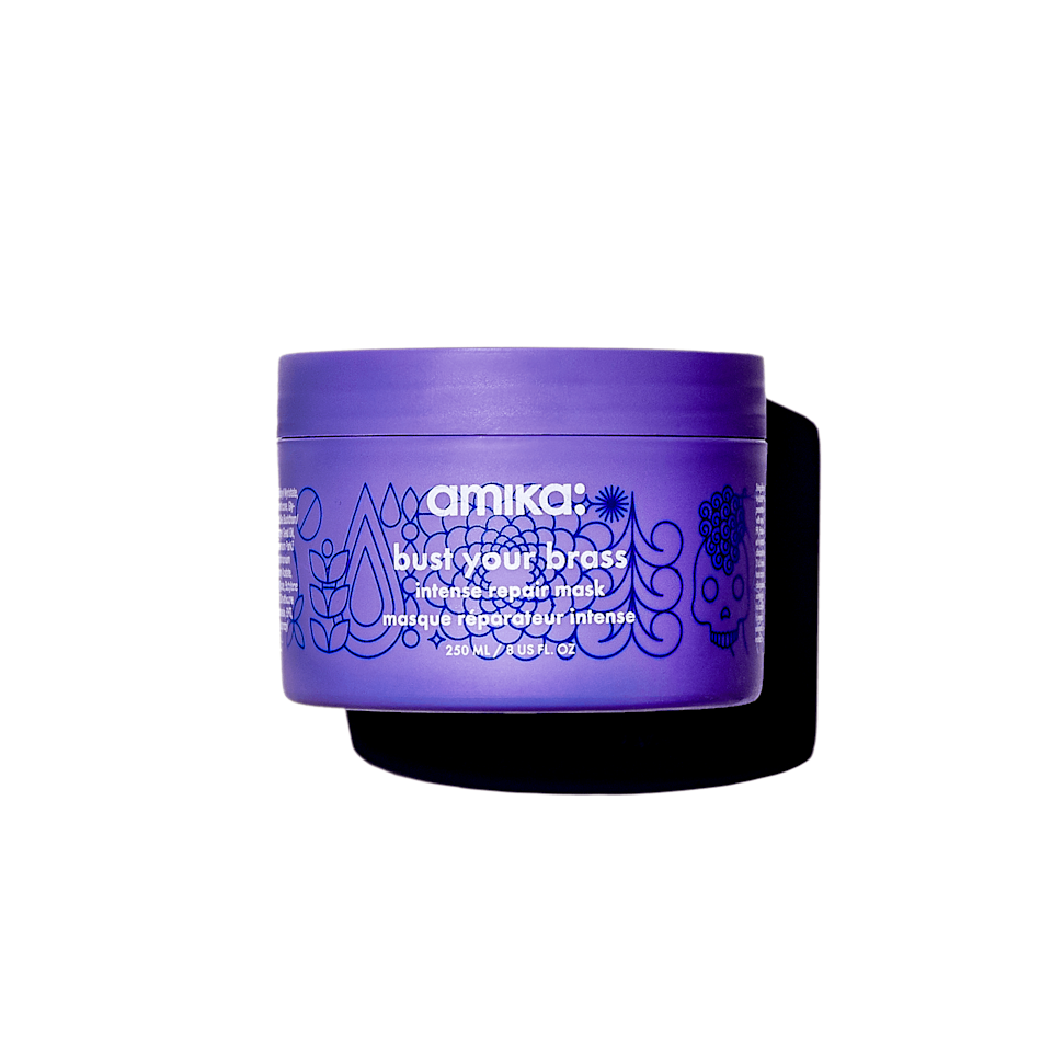 <p>The <span>Amika Bust Your Brass Intense Repair Mask</span> ($42) is a must-have hair mask for blonds. It will eliminate any brassy, yellow tones from your hair and brighten up your color after just one use. It also features bond repair technology to strengthen hair while enhancing your color.</p>