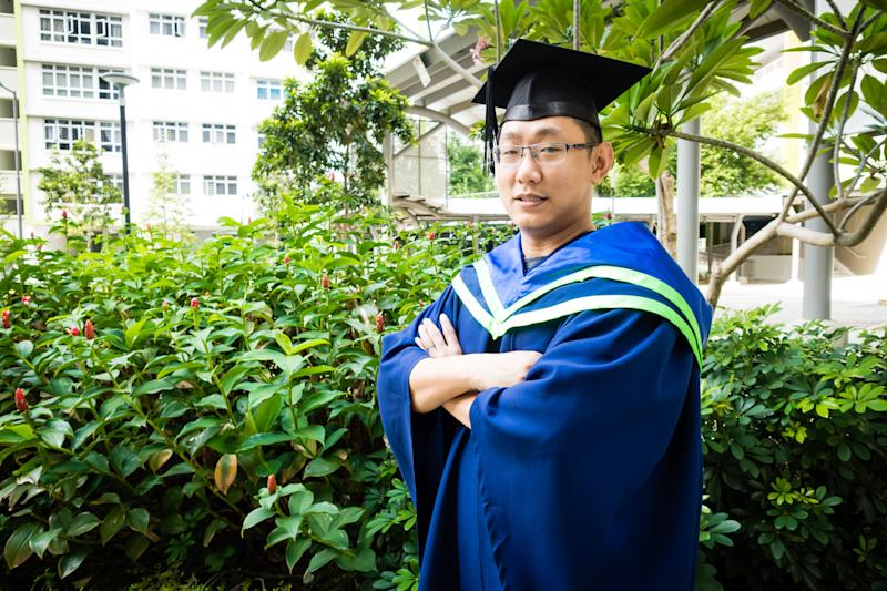 Sunny Swee, 37, who has been jailed three times, will graduate from Nanyang Technological University at the end of July. PHOTO: NTU