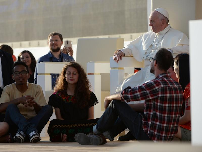 Pope Francis warned on July 30, 2016 that sitting on a sofa gives illusion of safety from pain, fear or worries, allowing the sitter to kick back and lose themselves for hours in the latest television show or their smartphones