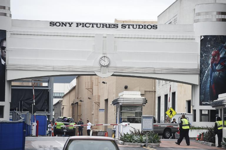 The entrance to the Sony Pictures Entertainment and Sony Pictures Studios in Culver City, California is seen December 16, 2014