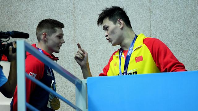 A disqualification handed Sun Yang another gold at the World Championships but his actions in the medal ceremony grabbed as much attention.