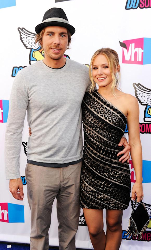 """<b>Kristen Bell & Dax Shepard</b><br>Our favorite tall man, little lady combo, Kristen Bell and Dax Shepard have been dating since 2007 and have been engaged since January 2010. Known for <a href=""""http://images.search.yahoo.com/search/images;_ylt=A2KJjamB55ZPBlkAjQjWwOZ_?&p=dax+shepard+kristen+bell+pda&fr2=piv-omg&fr=omg-ss"""">their fun-loving PDA</a>, the thirty-something couple seems inseparable. Make it official, Dax!"""