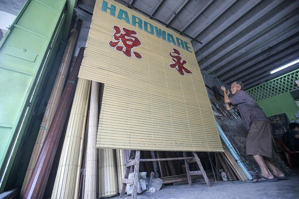 Chick blinds weaver Lau Chee Wah says the going price now is RM9.50 per 0.09 sq m. But there will be additional charges for artwork and installation.