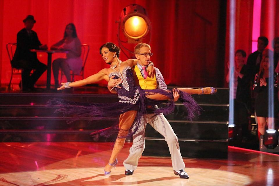 <p>Nope, not joking. Comedian Andy was actually on <em>Dancing With the Stars</em>. Pics because it *did* happen.</p>