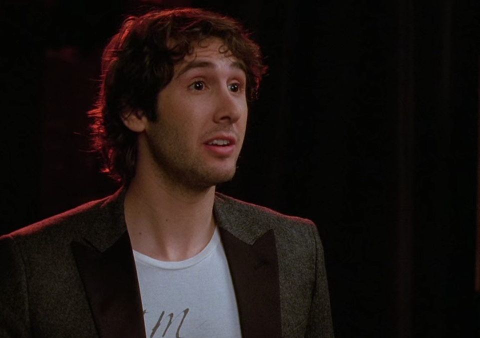 <p>Things never go great for members of New Directions when Josh Groban shows up. In season one, the multi-platinum artist did attend one of the Acafellas' performances (Mr. Shue's side project) but was really only there to serve one of the members a restraining order. He then ended up hitting on Mr. Shue's wife, and Josh later appeared as one of the judges at regionals. </p>