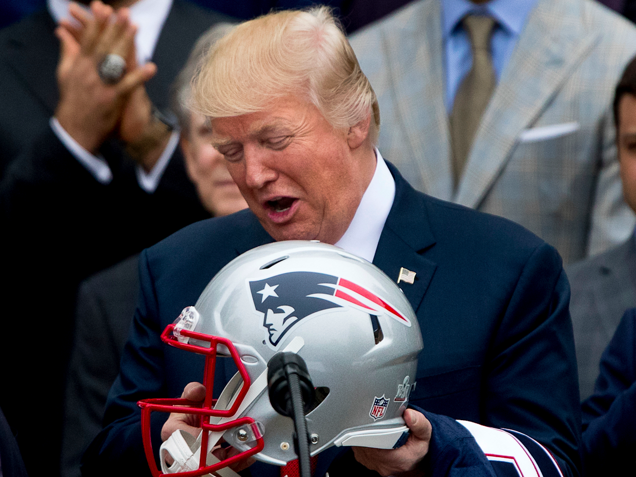 donald trump nfl football patriots
