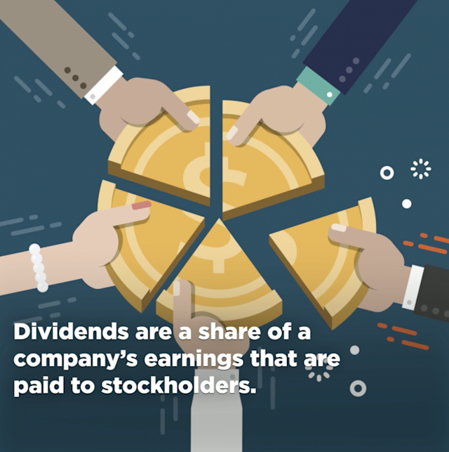 Dividends are usually paid out in cash, but sometimes companies issue stock dividends.
