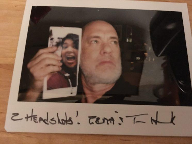 Hanks... posed for a selfie, with a selfie - Credit: Imgur