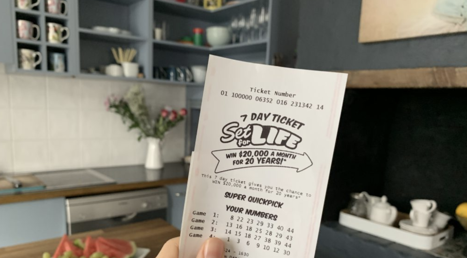 A Set for Life ticket.
