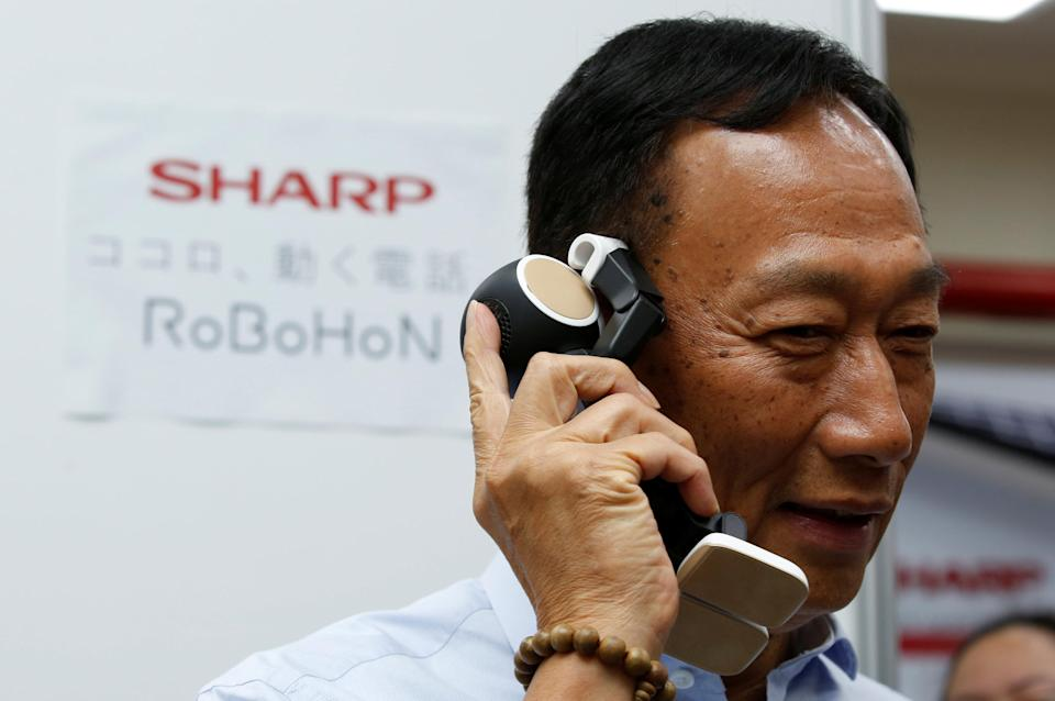 Terry Gou, chairman of Hon Hai Precision Industry, better known as Foxconn. REUTERS/Tyrone Siu