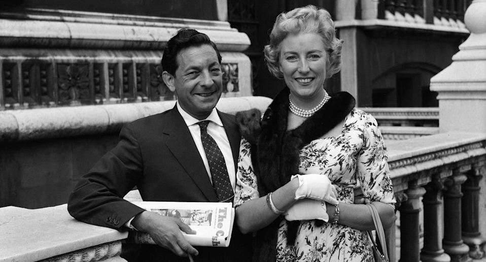 Dame Vera Lynn and husband Harry Lewis. (Photo by Dean /Mirrorpix/Getty Images)