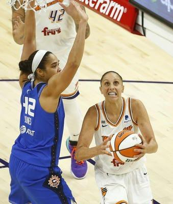 Phoenix Mercury guard Diana Taurasi is on the verge of surpassing 9,000 points for her WNBA career. She already is the WNBA career scoring leader.