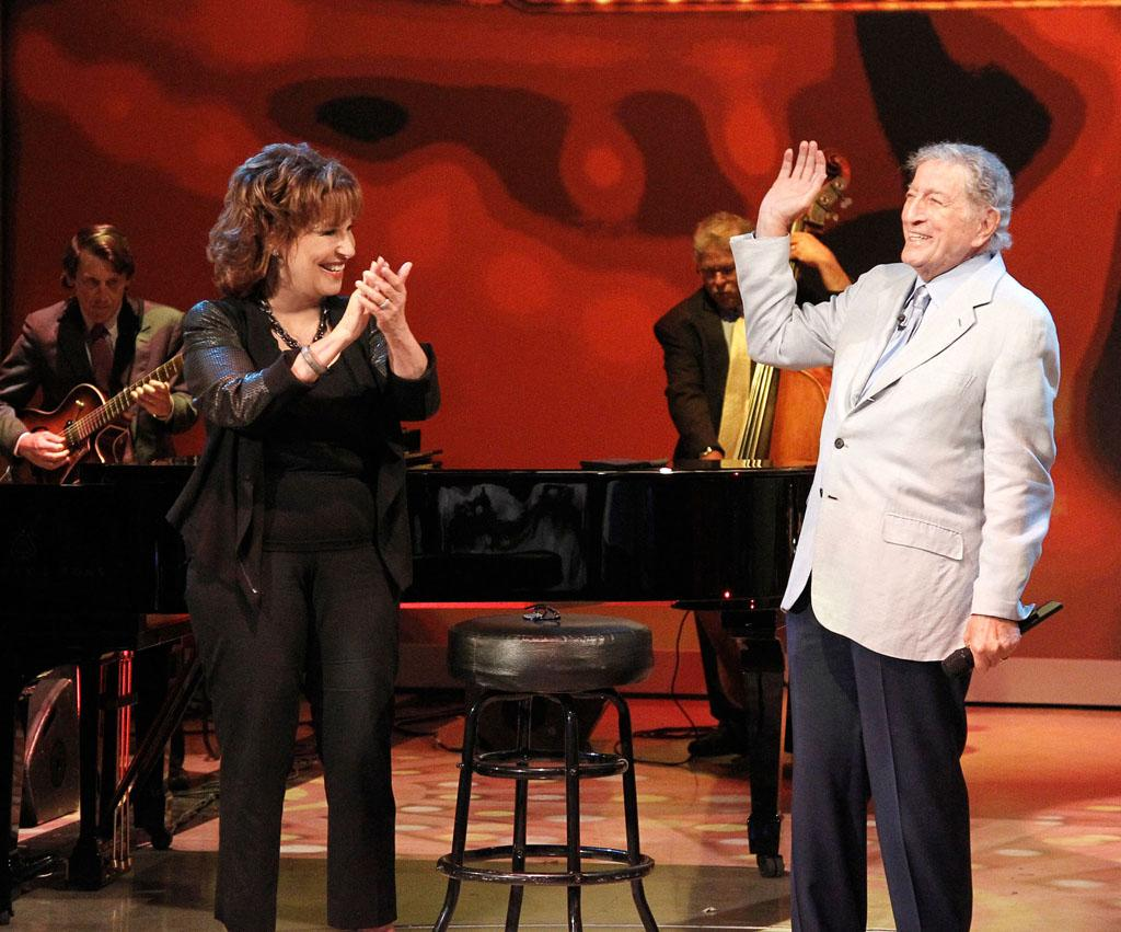 "Joy Behar and Tony Bennett on Joy's final episode as co-host of ABC's ""The View"" on Friday, August 9, 2013."